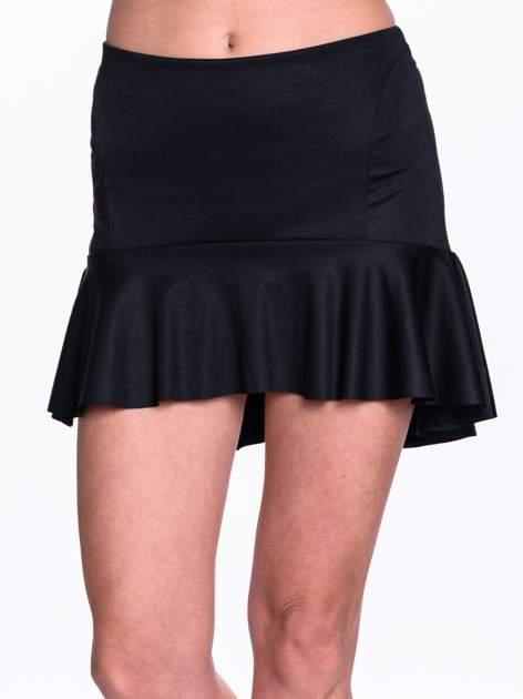 Czarna spódnica mini z falbanką                                  zdj.                                  5
