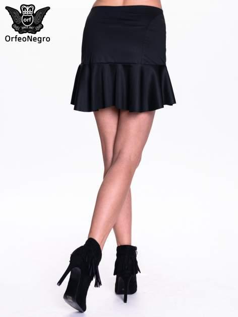 Czarna spódnica mini z falbanką                                  zdj.                                  2