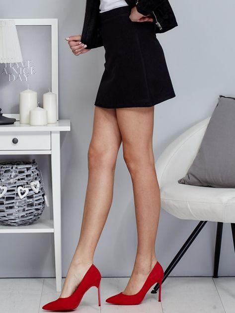 Czarna spódnica trapezowa z suwakiem                              zdj.                              3