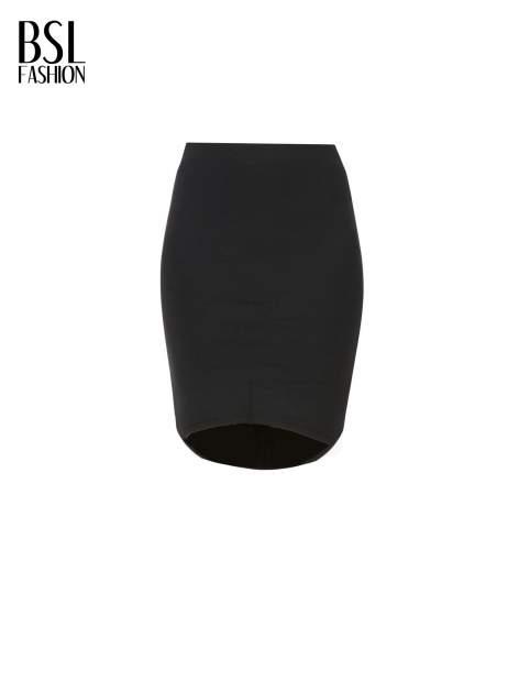 Czarna spódnica tuba z wydłużanym tyłem                                  zdj.                                  5