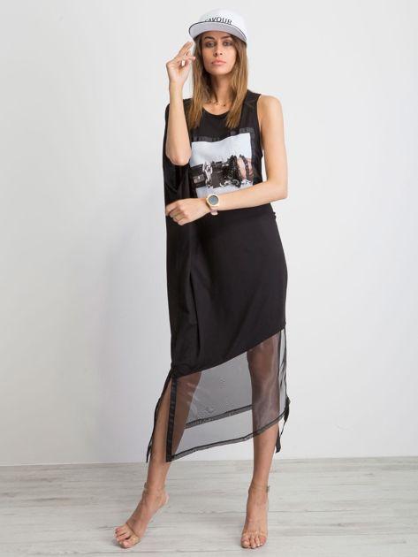 Czarna sukienka Asymetric                              zdj.                              4