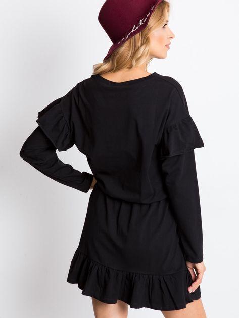 Czarna sukienka Frills                              zdj.                              2