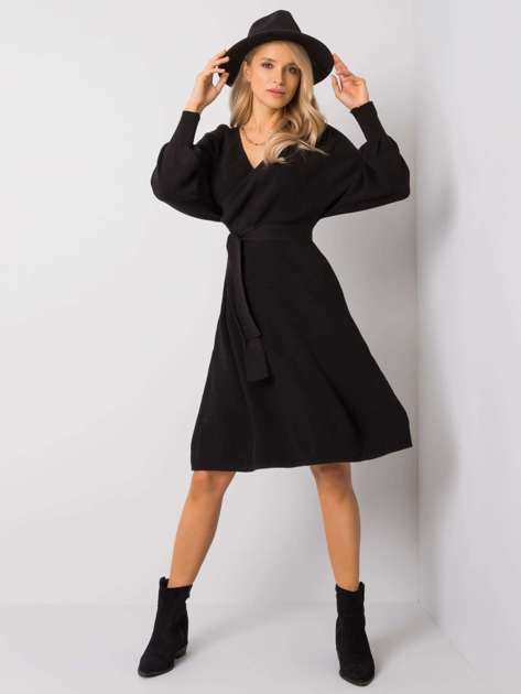 Czarna sukienka Leanor RUE PARIS