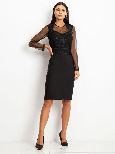 Czarna sukienka Moment                              zdj.                              4