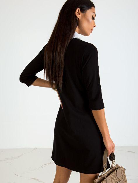 Czarna sukienka Poppy                              zdj.                              2