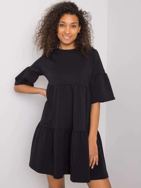 Czarna sukienka Queenie RUE PARIS