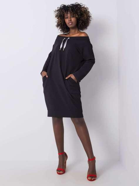 Czarna sukienka Raphaelle