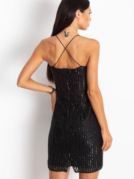Czarna sukienka Sequin                              zdj.                              2