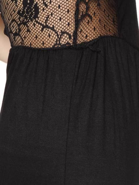 Czarna sukienka maxi na ramiączkach z koronkowym tyłem                                  zdj.                                  9