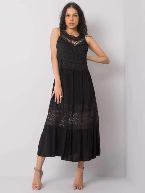Czarna sukienka na co dzień Gabrielle