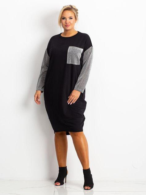 Czarna sukienka plus size Desire                              zdj.                              1