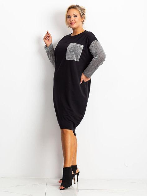 Czarna sukienka plus size Desire                              zdj.                              3