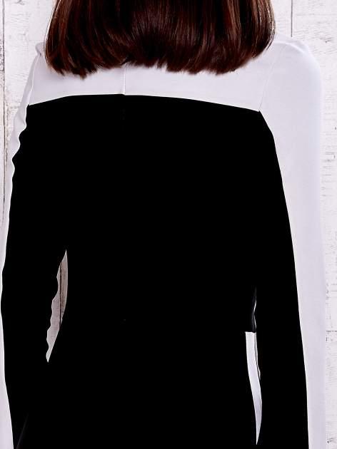 Czarna sukienka two tone z kwadratowym dekoltem                                  zdj.                                  5