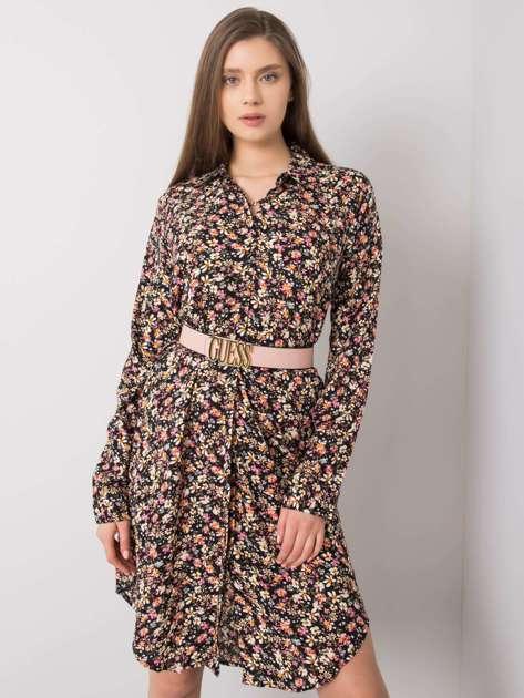 Czarna sukienka w kwiaty Milla RUE PARIS