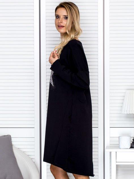 Czarna sukienka z gwiazdą                               zdj.                              5