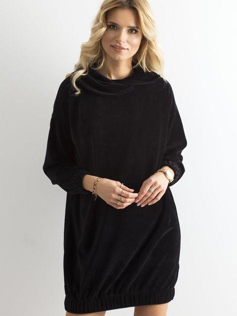 Czarna sztruksowa sukienka                              zdj.                              6