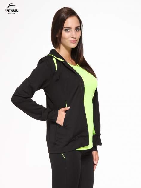 Czarna termoaktywna bluza do biegania z kapturem i fluozielonymi wstawkami ♦ Performance RUN                                  zdj.                                  4