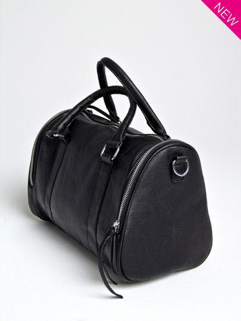 Czarna torba bowling z suwakami                                  zdj.                                  2