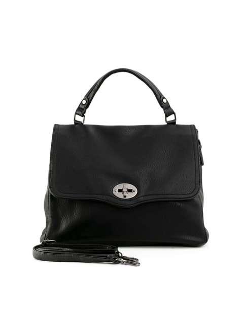 Czarna torba damska z uchwytem