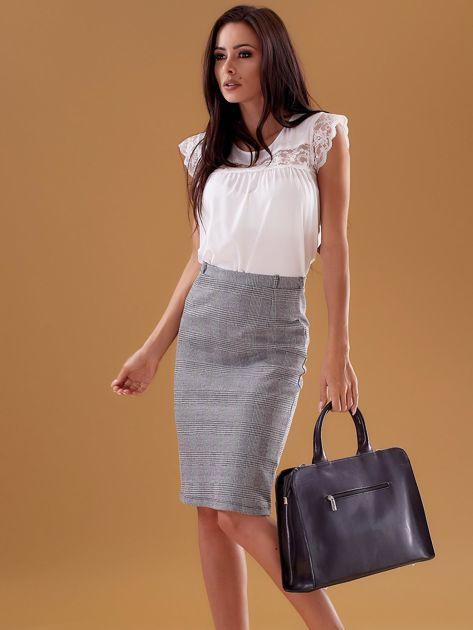 Czarna torba damska ze skóry w miejskim stylu                              zdj.                              5