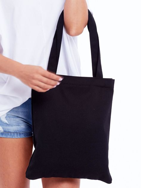 Czarna torba materiałowa z napisem SUP                              zdj.                              3