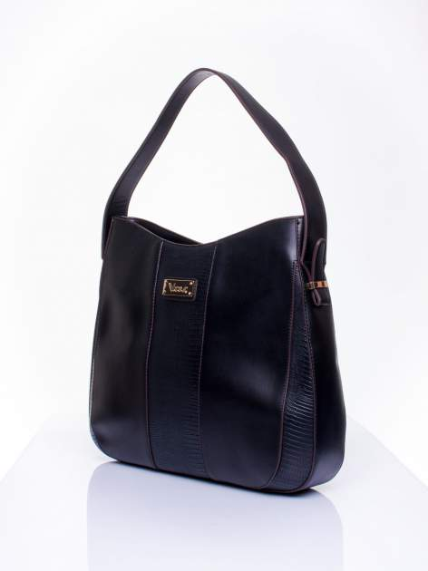 Czarna torba miejska two tone                                  zdj.                                  3