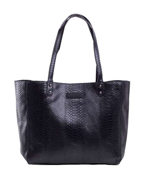 Czarna torba shopper