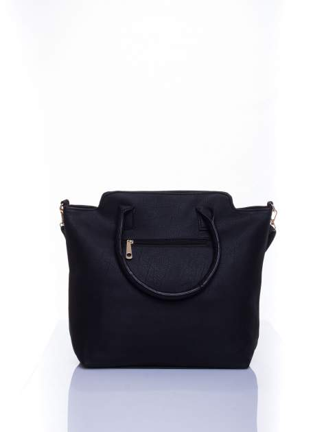 Czarna torba shopper bag                                  zdj.                                  3