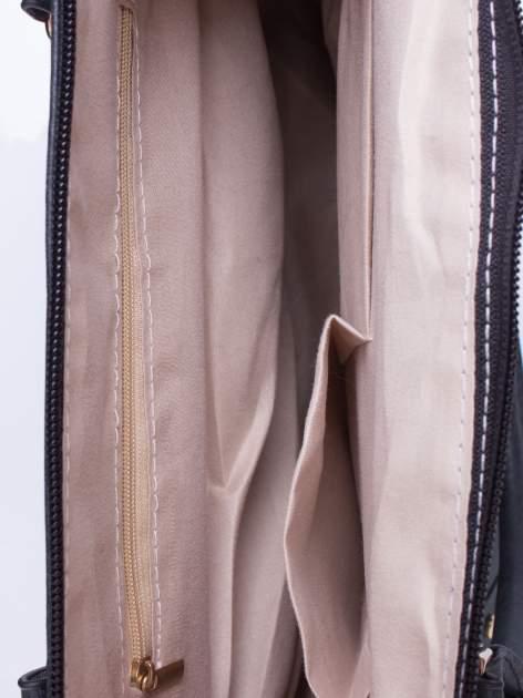 Czarna torba shopper bag ze złotymi ćwiekami                                  zdj.                                  4