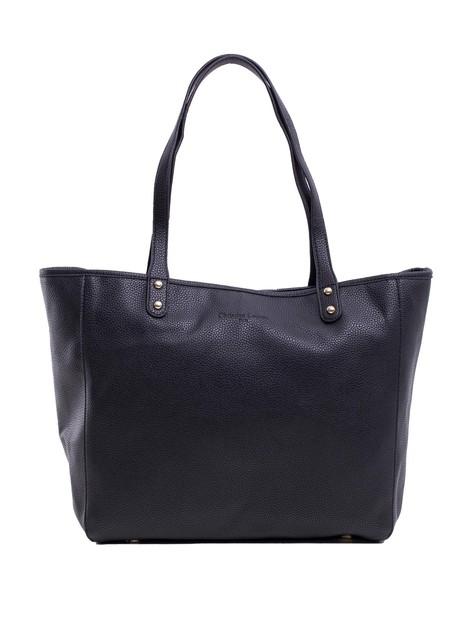 Czarna torba shopper z ekoskóry