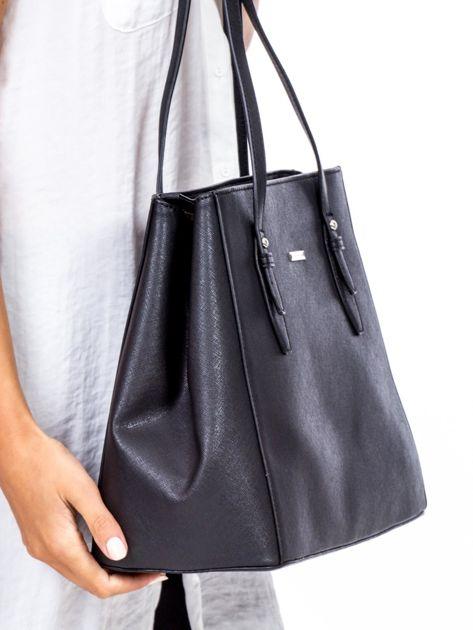 Czarna torba w miejskim stylu                              zdj.                              3