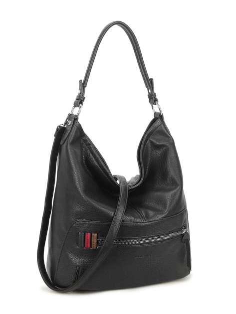 Czarna torba z kieszenią na suwak LUIGISANTO