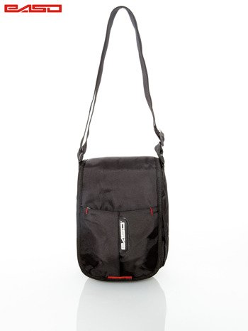Czarna torba z regulowanym paskiem                                   zdj.                                  3