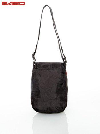 Czarna torba z regulowanym paskiem                                   zdj.                                  4