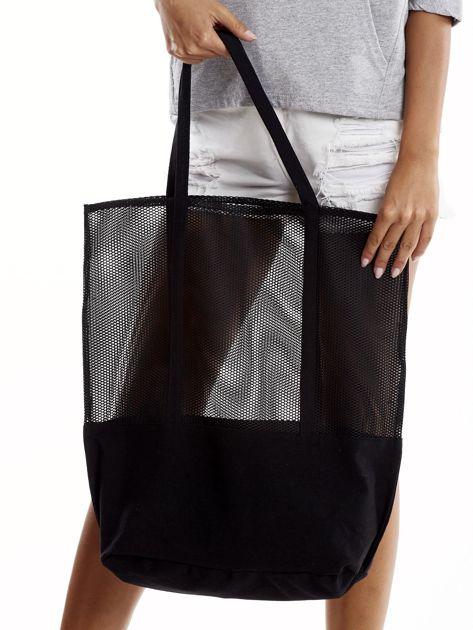 Czarna torba z siatkową górą                              zdj.                              5