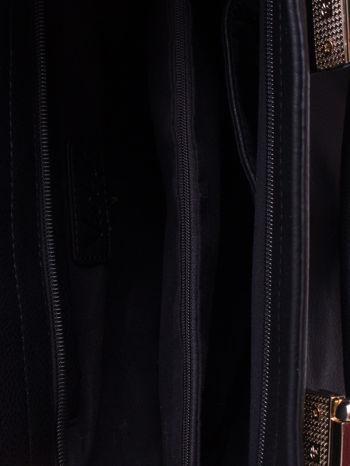 Czarna torba z suwakami i szarymi wstawkami po bokach                                  zdj.                                  4