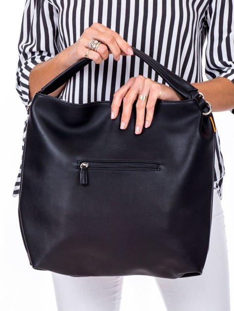 Czarna torba z ukośnymi suwakami                              zdj.                              4
