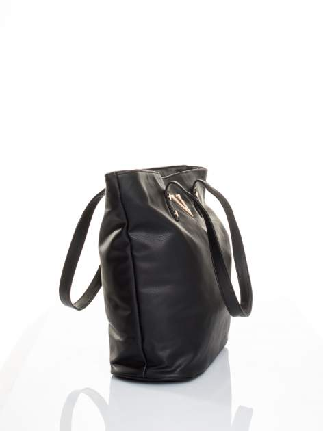 Czarna torba ze złotym detalem                                  zdj.                                  3