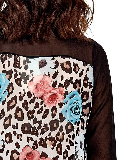 Czarna transparentna koszula z motywem kwiatowym                                  zdj.                                  6