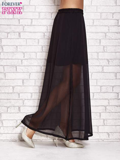 Czarna transparentna spódnica maxi                                  zdj.                                  3