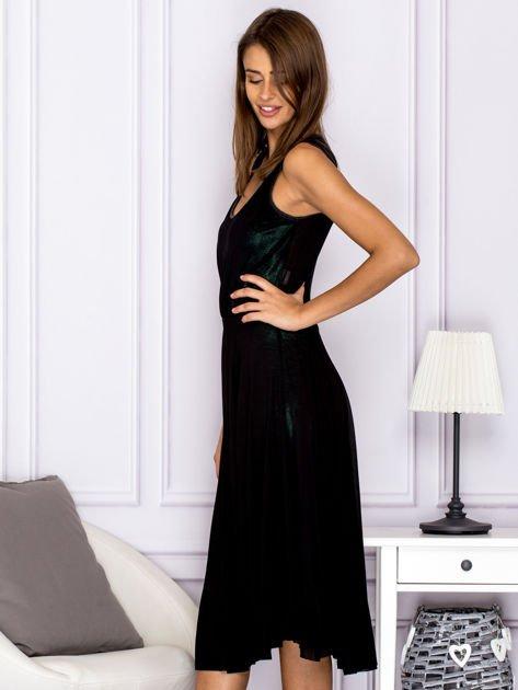 Czarna warstwowa sukienka                                  zdj.                                  5