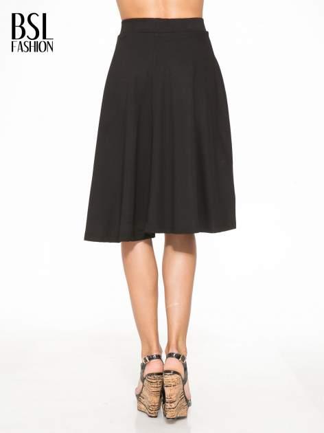 Czarna zwiewna spódnica midi                                  zdj.                                  4