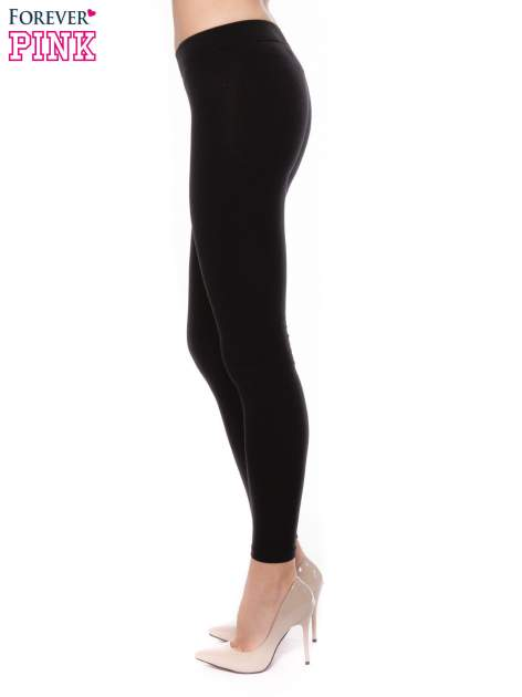 Czarne bawełniane legginsy                                  zdj.                                  2