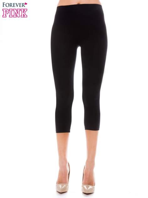 Czarne bawełniane legginsy 3/4                                  zdj.                                  1