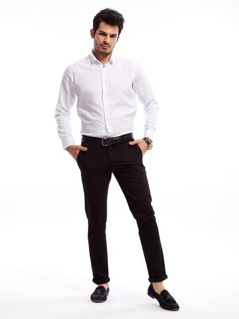 Czarne bawełniane spodnie męskie                               zdj.                              4