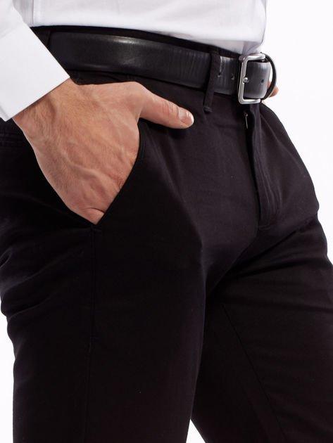 Czarne bawełniane spodnie męskie                               zdj.                              13