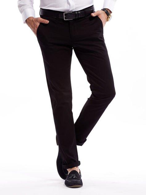 Czarne bawełniane spodnie męskie                               zdj.                              7