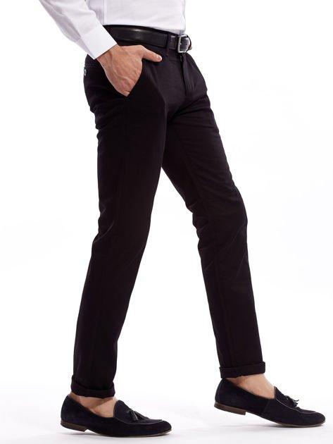 Czarne bawełniane spodnie męskie                               zdj.                              15