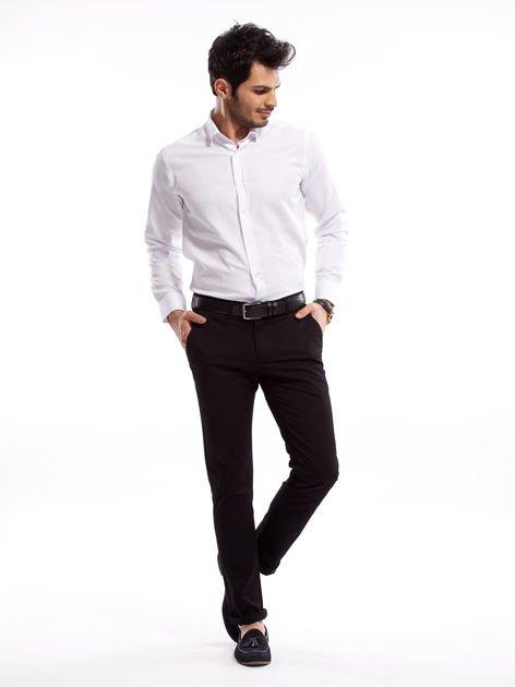Czarne bawełniane spodnie męskie                               zdj.                              6