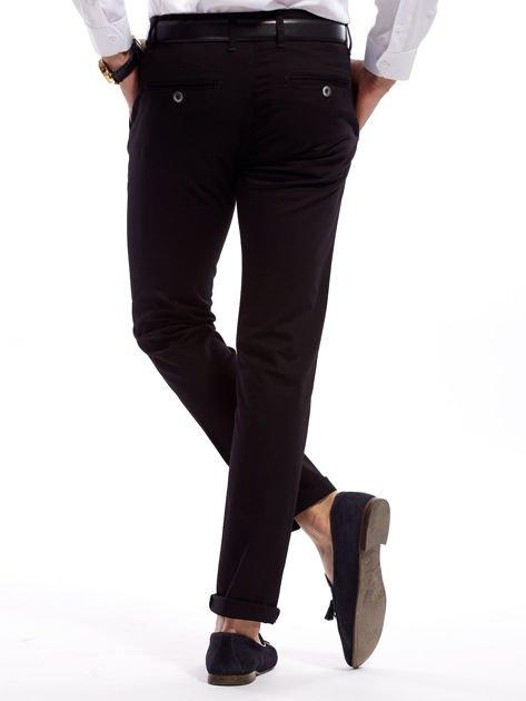 Czarne bawełniane spodnie męskie                               zdj.                              8